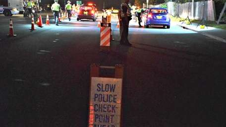 Suffolk County police set up a sobriety checkpoint