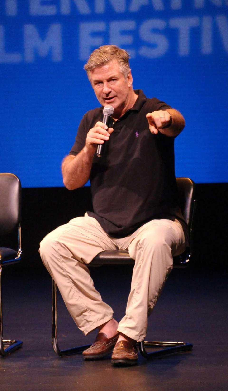 Alec Baldwin moderates a discussion of