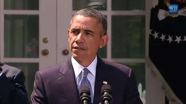 President Barack Obama speaks on Syria from the