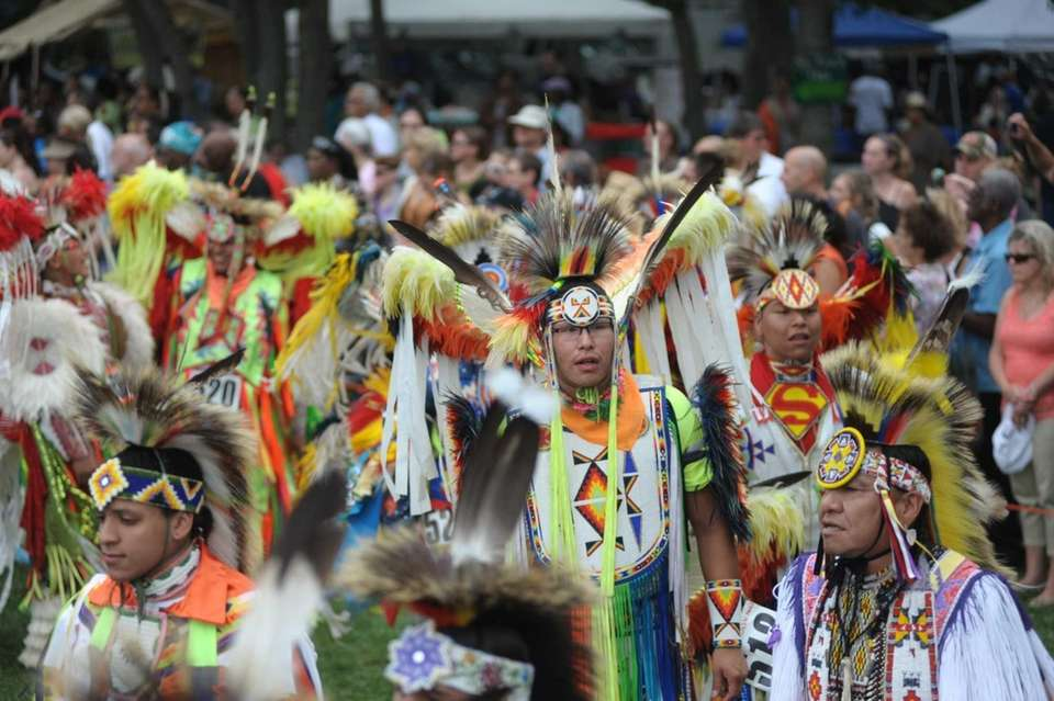 Opening parade at the 67th Annual Shinnecock Powwow