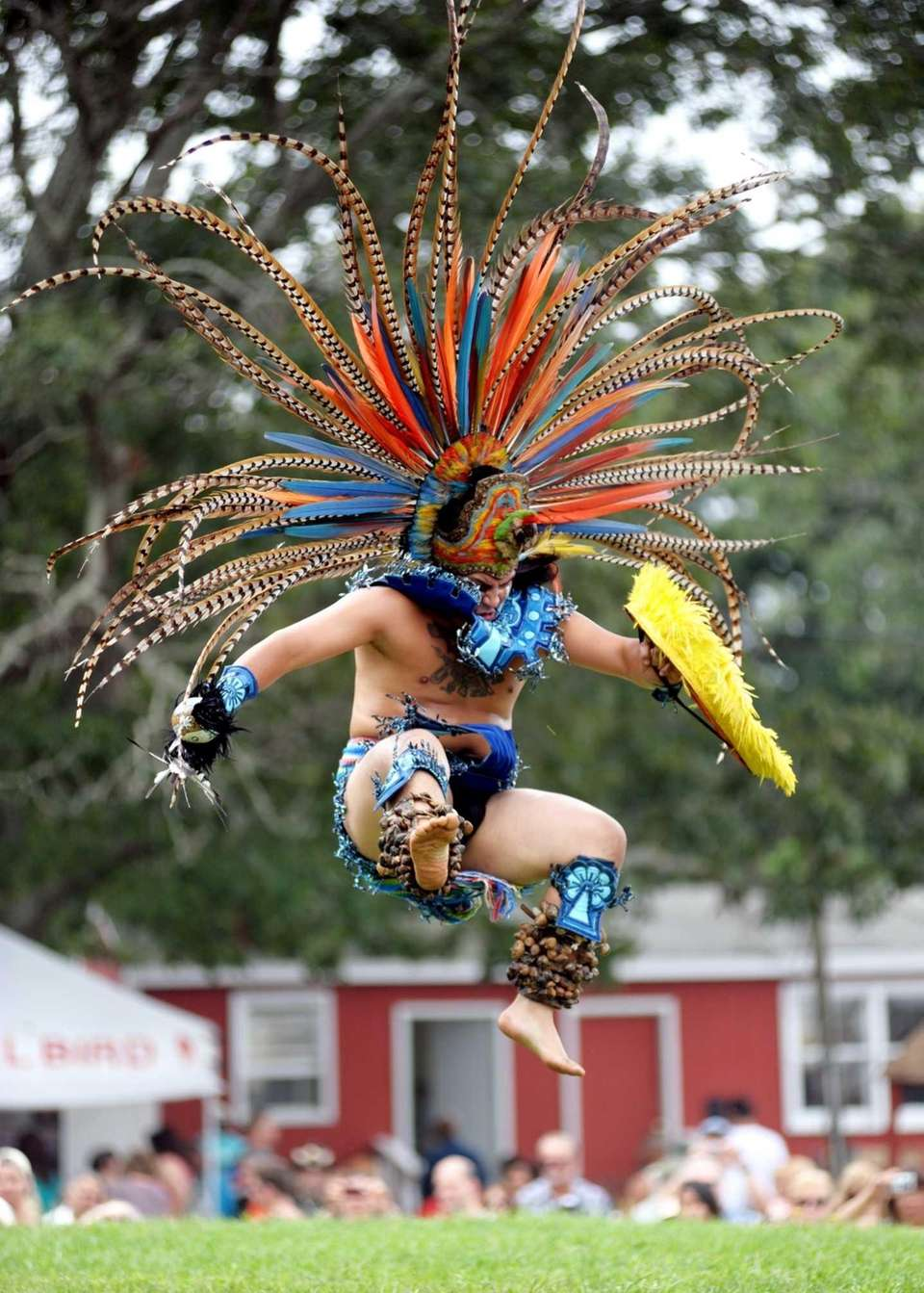 Aztec dancer from Mexico during the 67th Annual