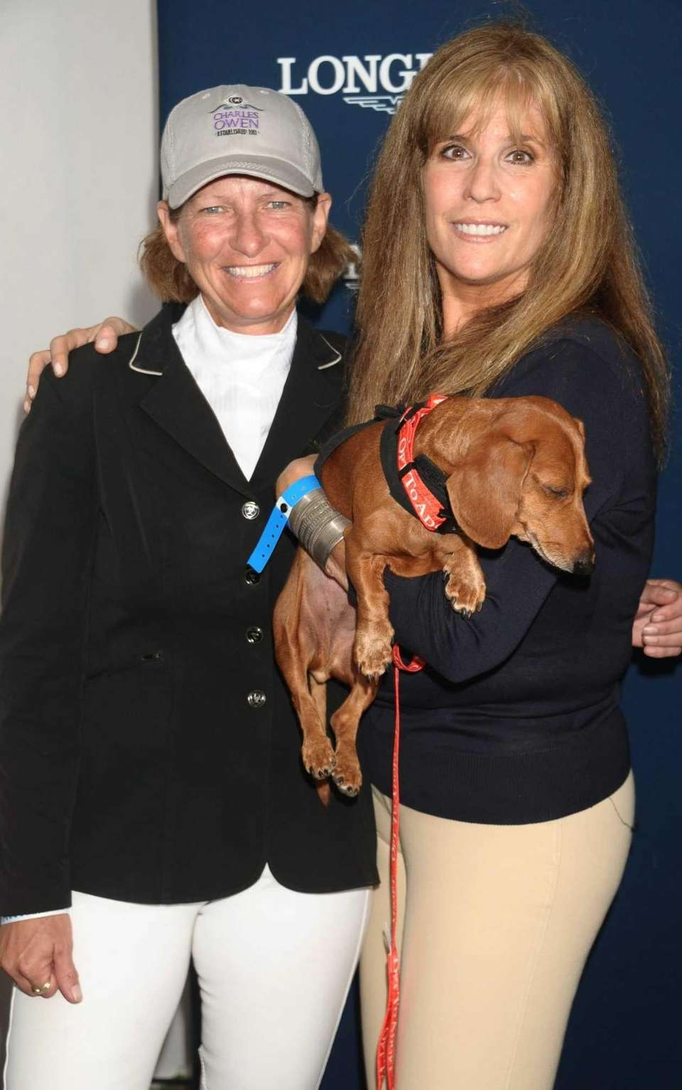 Beezie Madden and Jill Rappaport with her rescue