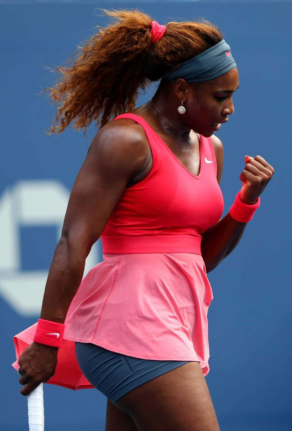 Serena Williams of the United States celebrates a