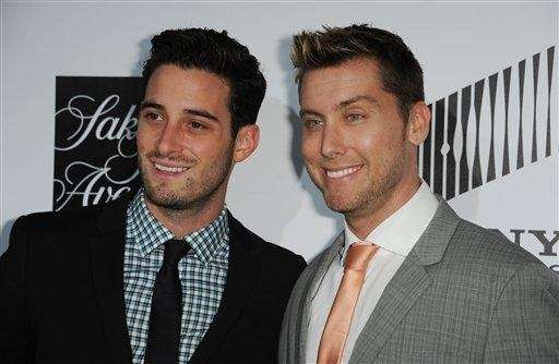 From left, Michael Turchian and Lance Bass at