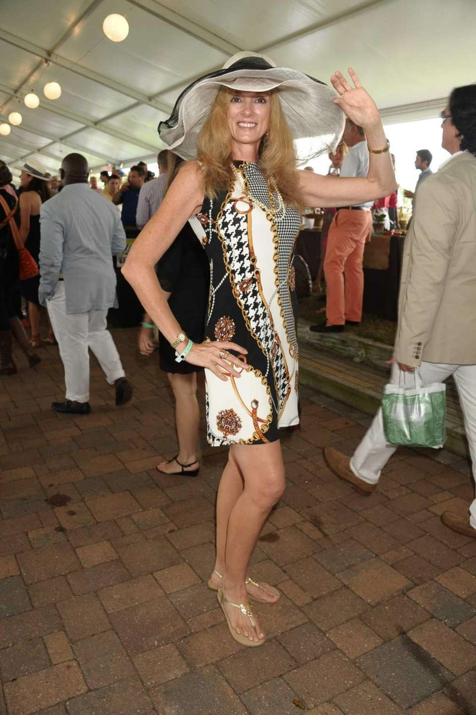 Tammy Regan in typical Hampton style ensemble at