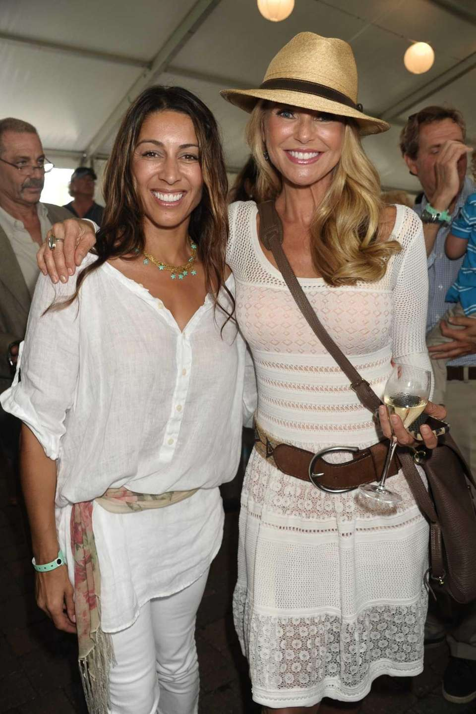 Shamin Abas and Christie Brinkley at the 38th