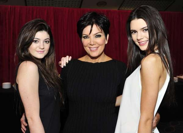 From left, Kylie Jenner, Kris Jenner and Kendall