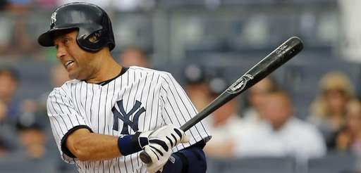 Derek Jeter of the New York Yankees hits
