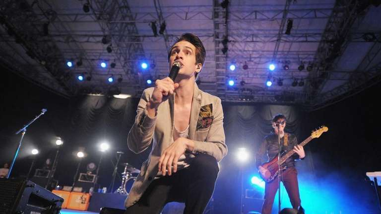 Brendon Urie of Panic! At The Disco performs