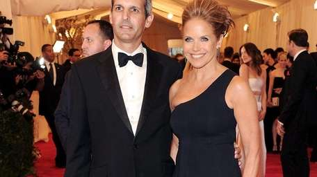 Katie Couric and John Molner attend The Metropolitan