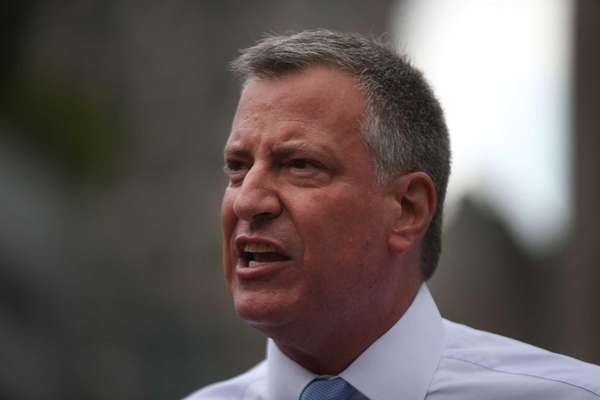Public Advocate and mayoral candidate Bill de Blasio