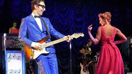 Kurt Jenkins rocks with backup singer-dancer Linnea Larsdotter
