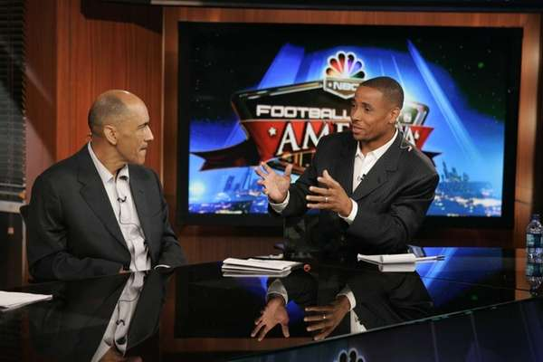 Tony Dungy, left, and Rodney Harrison on the
