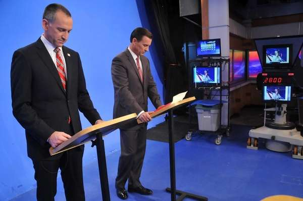 Adam Haber and Tom Suozzi, democratic candidates for