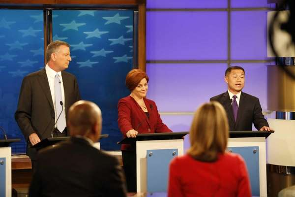 (L-R) Democratic candidates for New York City mayor