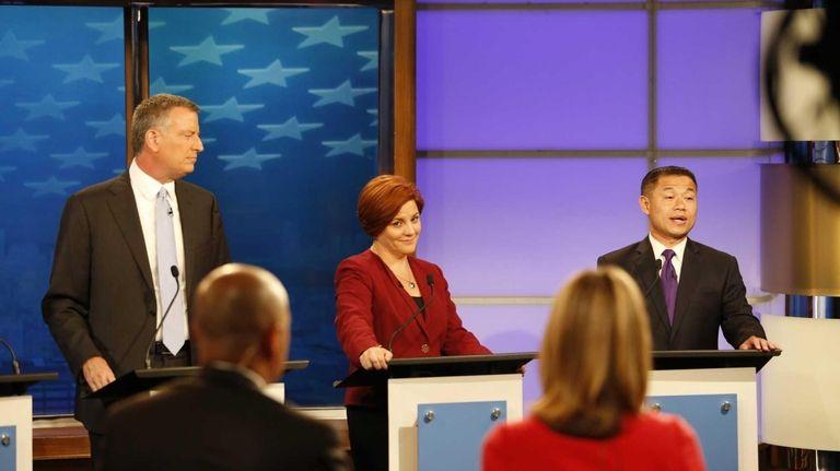 (L-R) Democratic candidates for New York City mayor