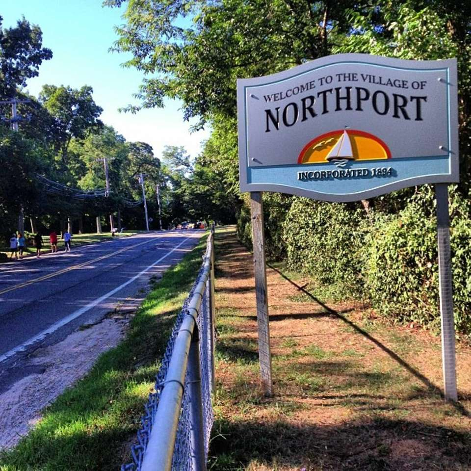 Here's the sign welcoming people to Northport. (Sept.