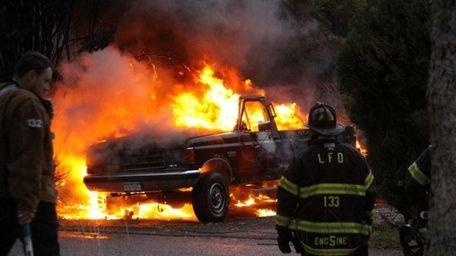 Lakeland Fire Department volunteers respond to downed power