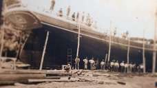 The Allie R. Chester under construction at Jesse
