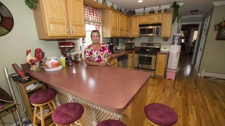 Katerina Filippides in the kitchen of her East