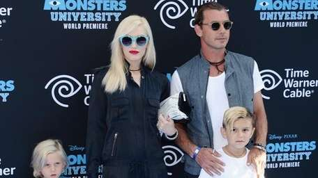 Gwen Stefani with hubby Gavin Rossdale and kids
