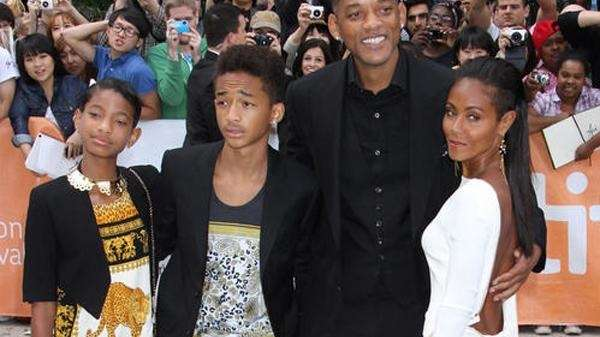 Willow and Jaden Smith with their parents, Will