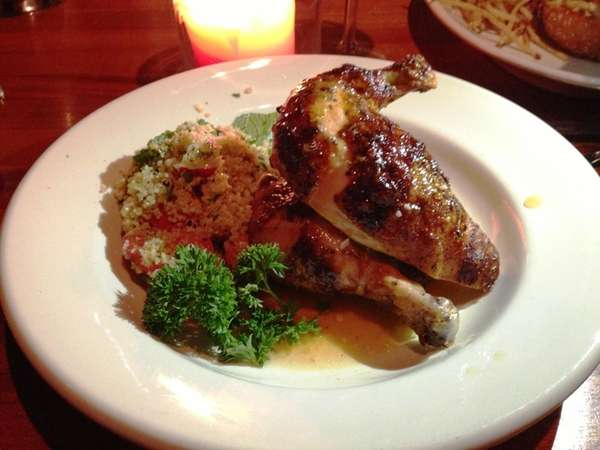 The exceptional rotisserie chicken at Houston's at Roosevelt