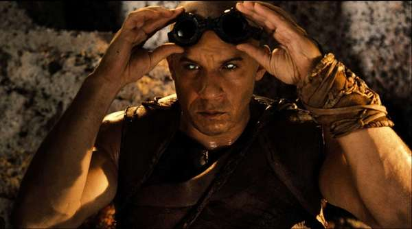 "Vin Diesel in a scene from ""Riddick."""