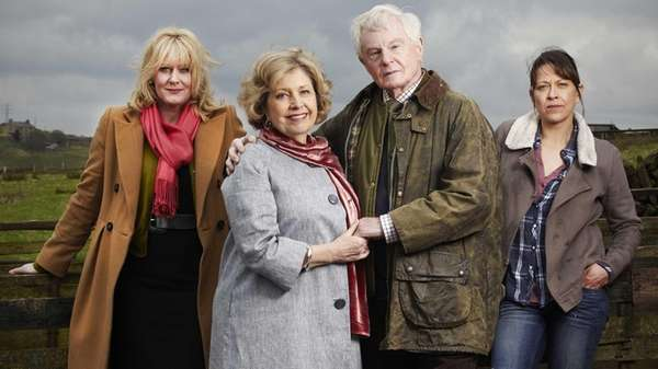 Sarah Lancashire, left, Anne Reid, Derek Jacobi and