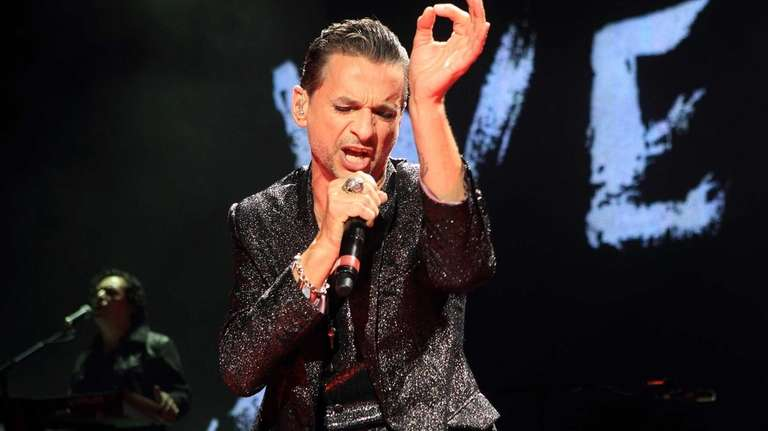 Dave Gahan of Depeche Mode performs in concert