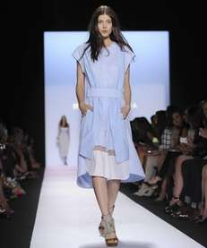 A model walks the BCBG Max Azria Spring