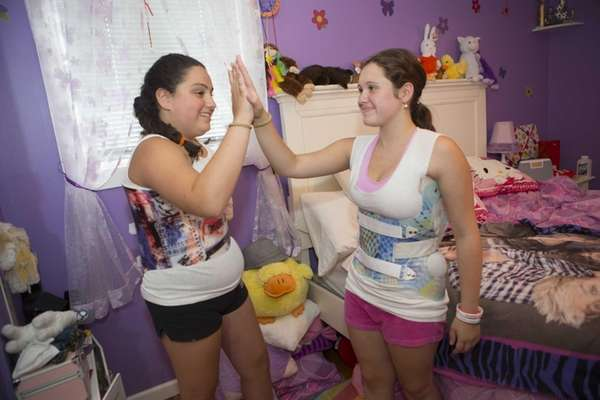Elizabeth Ocello, 11, of Commack, and Morgan Pozolante,