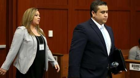 George and Shellie Zimmerman in court June, 2013.