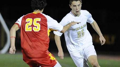 St. Anthony's Nicholas Cestaro controls the ball while