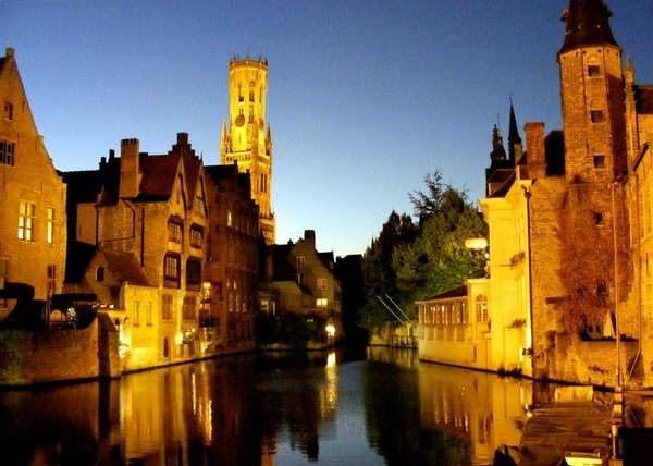 Bruges' dreamy canal was essential to its early