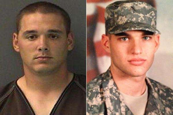 (L-R) Sgt. Brett Wessel, 26, of Leavenworth, Kan.,