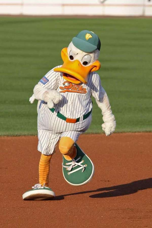 QuackerJack, the lovable mascot for the Long Island