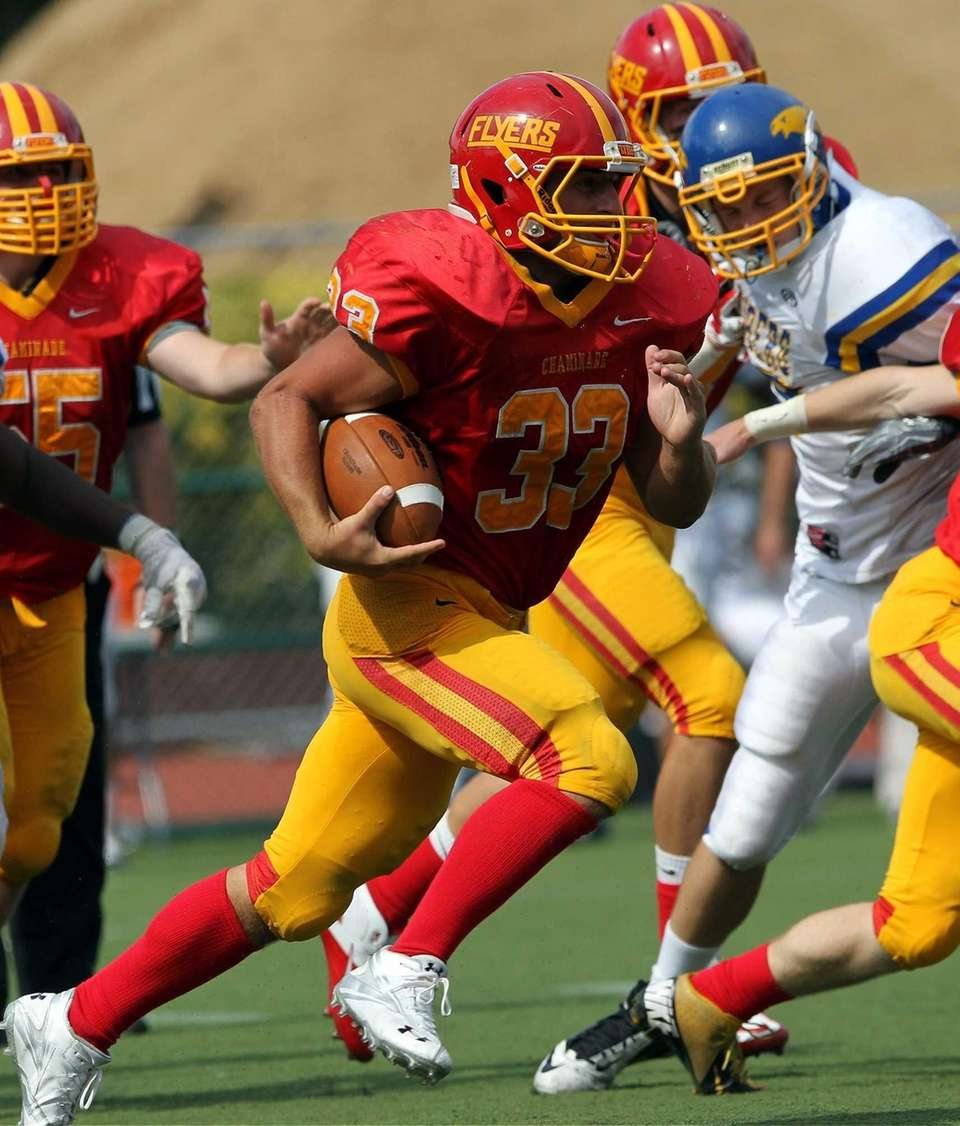 Chaminade's Robert Speranza Jr. runs against Kellenberg. (Sept.
