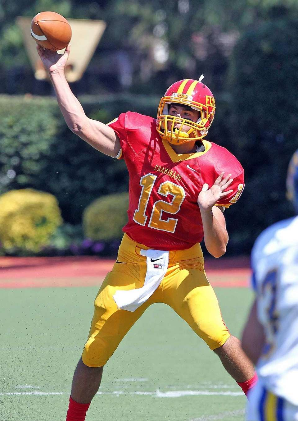 Chaminade quarterback Sean Cerrone throws against Kellenberg. (Sept.