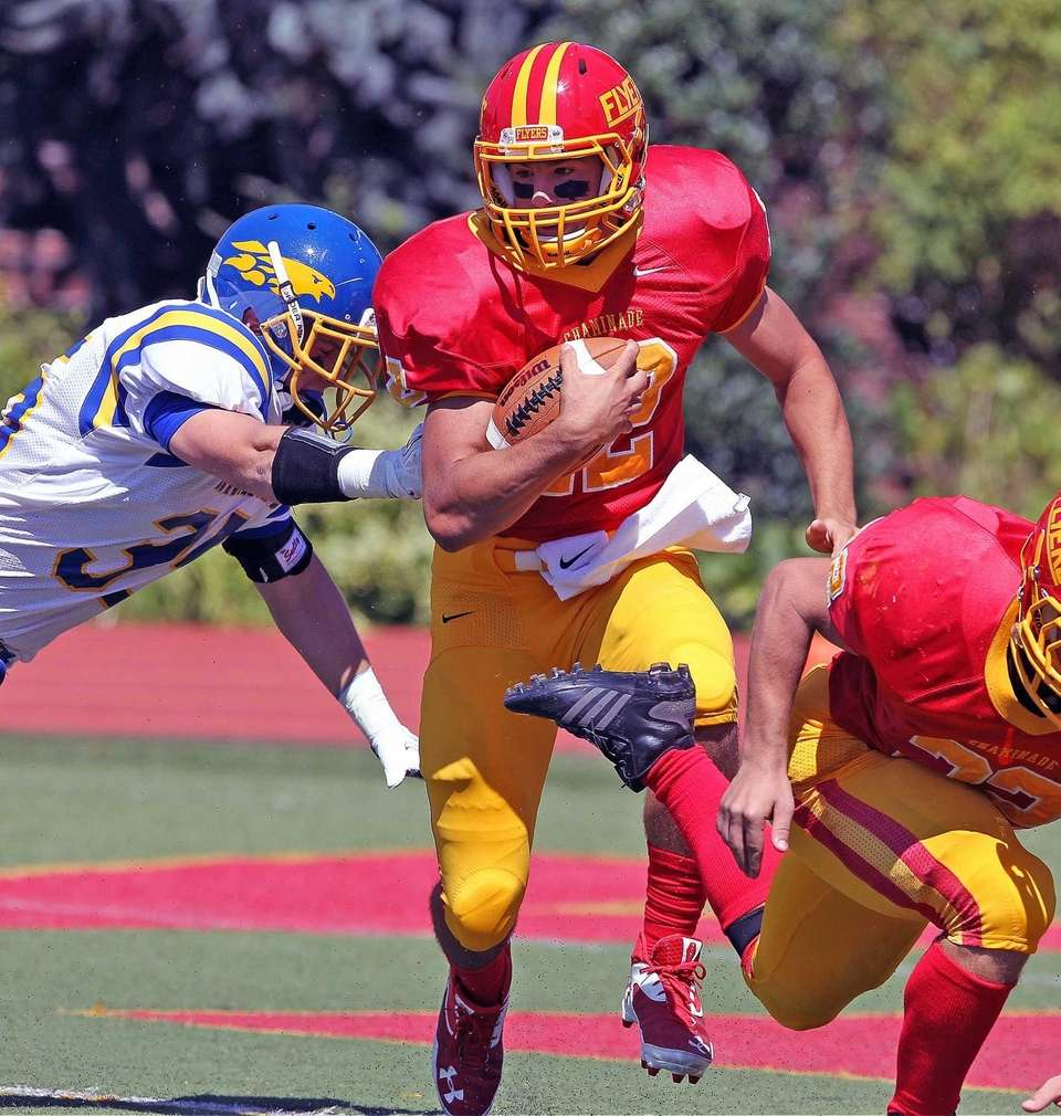 Chaminade quarterback Sean Cerrone keeps the ball against