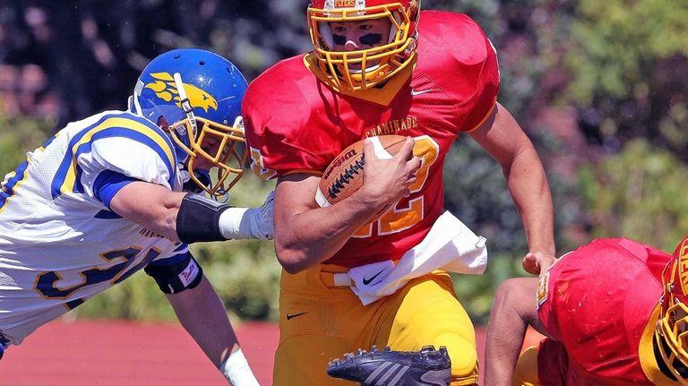 Chaminade quarterback Sean Cerrone keeps the ball against