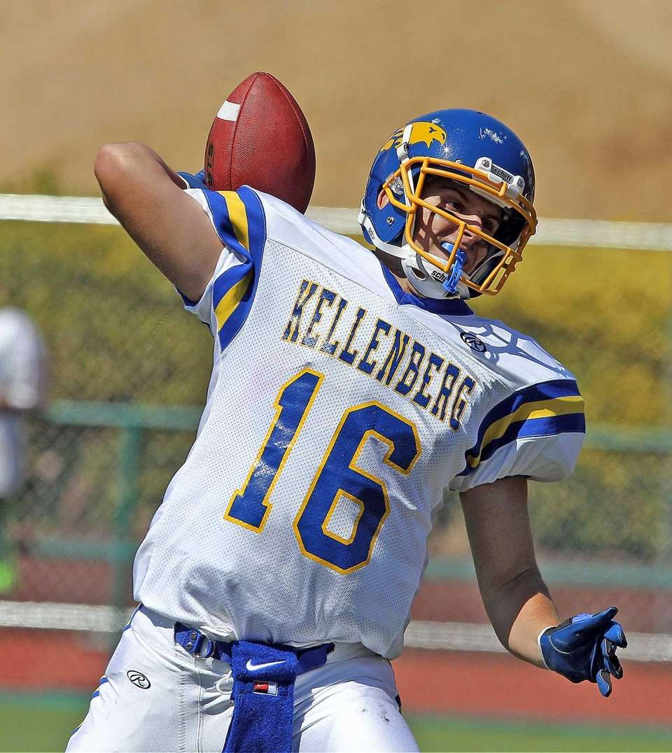Kellenberg quarterback Kyle Driscoll throws downfield against Chaminade.