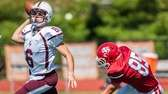 Fordham Prep's starting QB, James Mchale (6, left),