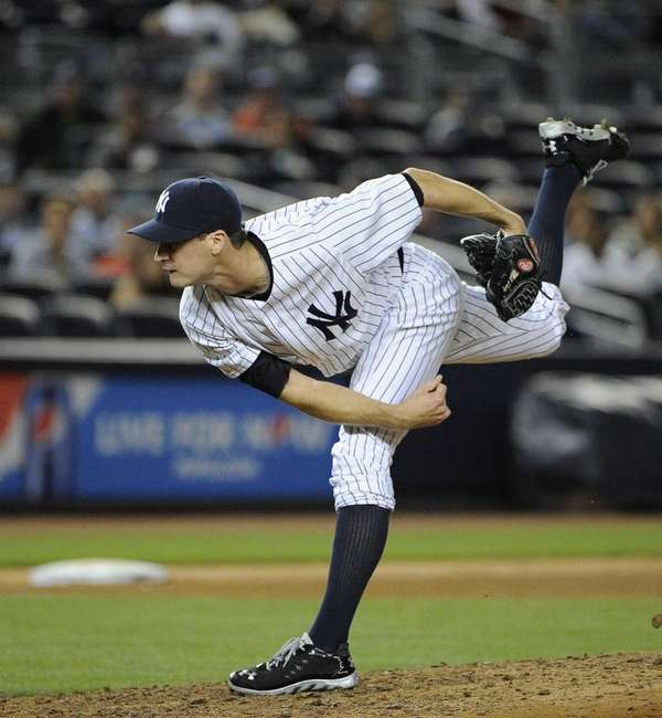 Yankees pitcher Matt Daley makes his major league