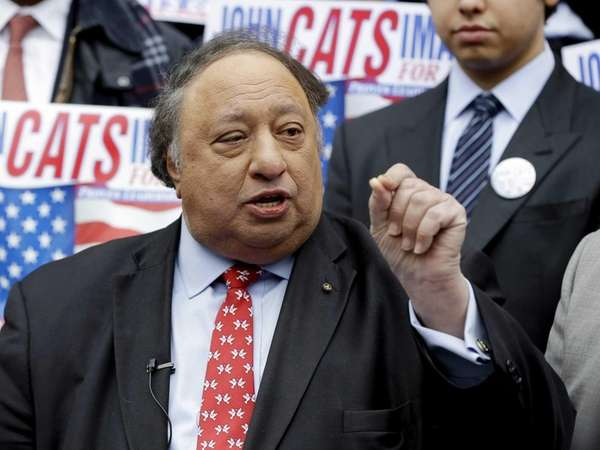 In this file photo, John Catsimatidis speaks to