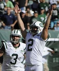 Nick Folk reacts after kicking the game-winning field
