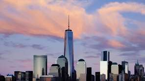 One World Trade Center rises above the lower