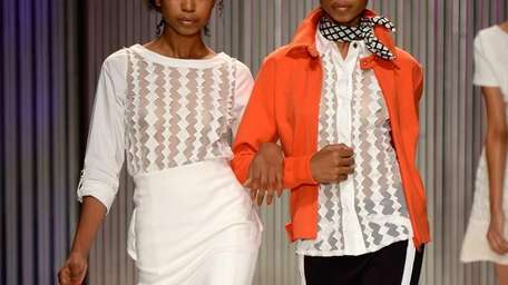 During Mercedes-Benz Fashion Week Spring 2014 at The