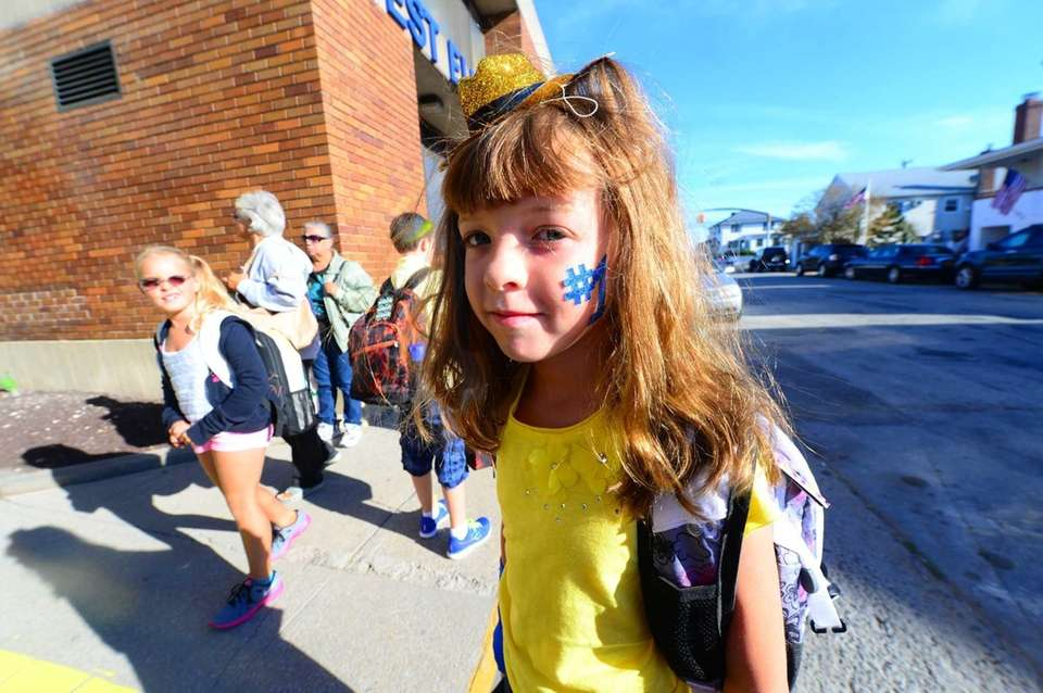 Samantha Sales, 8, says she is excited about