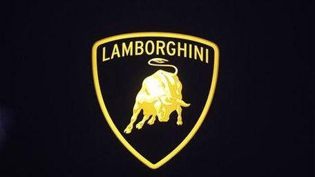 Lamborghini sign is shown at the North American